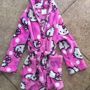 Hello Kitty Girls Plush Robe